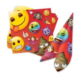 Emoji servetten 16 stuks 33x33cm