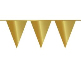 Vlaglijn goud plastic 10m