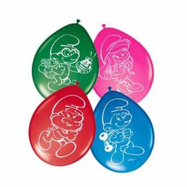 Smurfen ballonnen 8 stuks