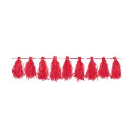 Slinger rood met kwasten 3m