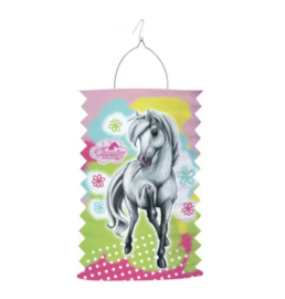 Paard lampion 28x15cm
