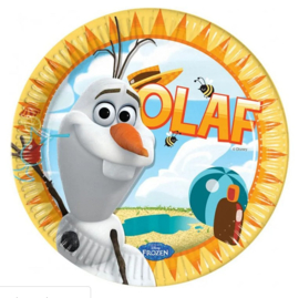 Frozen Olaf borden 8 stuks 23cm