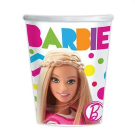 Barbie bekers 8 stuks 266ml