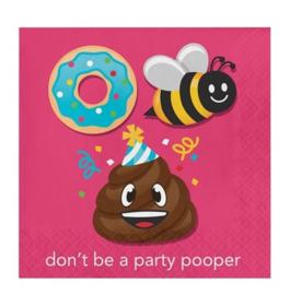 Emoji Poop servetten 16 stuks 33cm