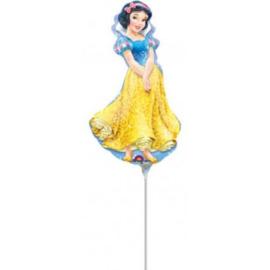 Sneeuwwitje folie ballon op stok