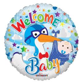 Welkom baby jongen folie ballon 45cm