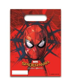 Spiderman Homecoming uitdeelzakjes 6 stuks