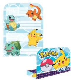 Pokemon uitnodigingen 8 stuks
