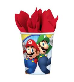 Super Mario bekers 8 stuks