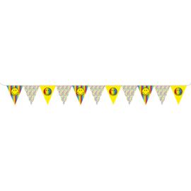 Smiley vlaggenlijn papier 330x15cm