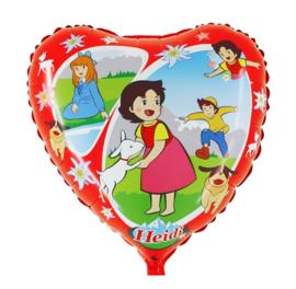 Heidi tekenfilm folie ballon 45cm