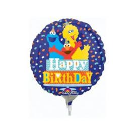 Sesamstraat folie ballon op stok 23cm