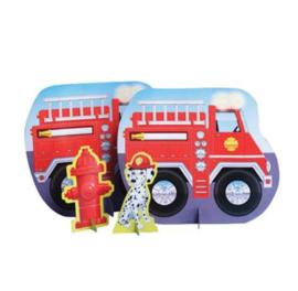 Brandweer tafel versiering 35x29cm