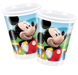 Mickey Mouse Donald Duck bekers 10 stuks 200ml