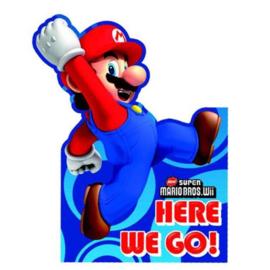 Super Mario uitnodigingen 6 stuks