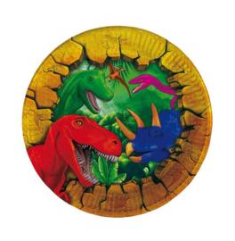 Dinosaurus borden 6 stuks 18cm