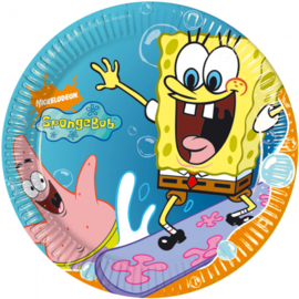 Spongebob borden 10 stuks 20cm