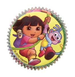 Dora cupcake bakvormpjes 50 stuks