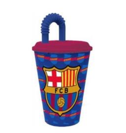 FC Barcelona drinkbeker met rietjes
