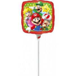 Super Mario folie ballon op stok