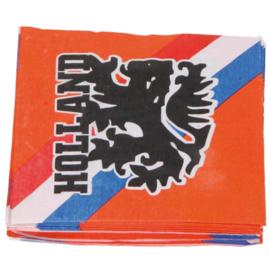 Oranje Holland servetten 20 stuks 33cm