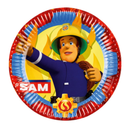 Brandweerman Sam borden 8 stuks 23cm
