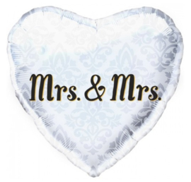 Mr en mrs folie ballon 45cm