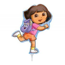 Dora folie ballon op stok 23cm