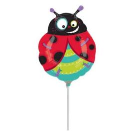 Lieveheersbeestje folie ballon mini