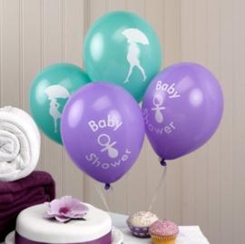 Babyshower ballonnen 8 stuks 35cm