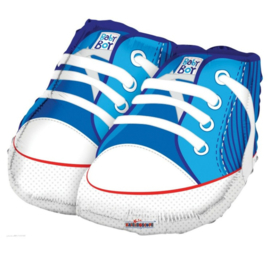 Baby schoenen jongen folie ballon 53cm