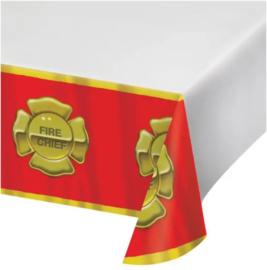 Brandweer tafelkleed plastic 137x274cm