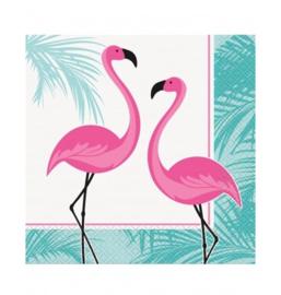 Flamingo servetten 16 stuks 33x33cm