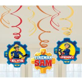 Brandweerman Sam hangdecoratie 6 stuks