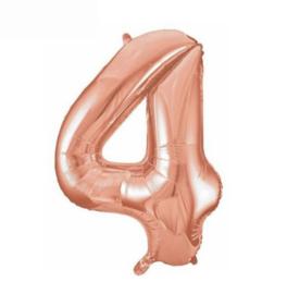 Folie ballon vier rosé goud 45cm