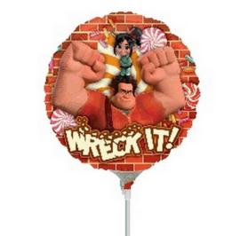 Wreck it Ralph folie ballon op stok 23cm