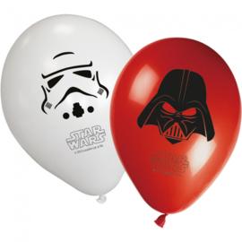 Star Wars ballonnen 8 stuks 28cm