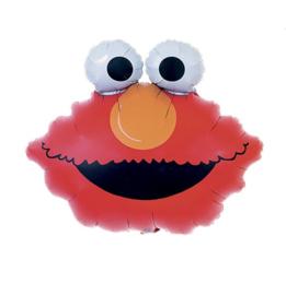 Elmo gezicht folie ballon op stok 23cmx36cm