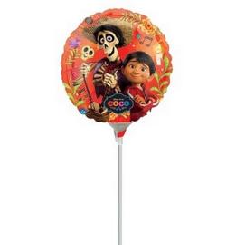 Coco folie ballon op stok 23cm