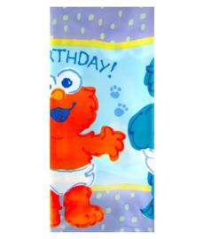 Sesamstraat eerste verjaardag tafelkleed 2,4 x1 ,3m