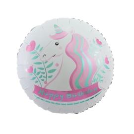 Eenhoorn folie ballon wit 45cm