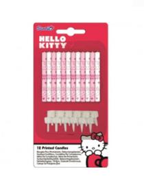 Hello Kitty taart kaarsjes 12 stuks