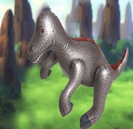 Opblaasbare dinosaurus grijs