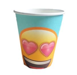Emoji bekertjes verliefd 6 stuks 250ml