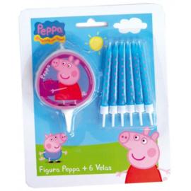 Peppa Pig kaarsjes set 7 stuks