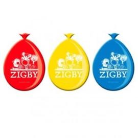 Zigby ballonnen 8 stuks