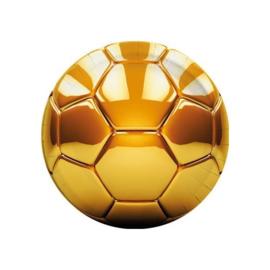 Voetbal borden goud 8 stuks 23cm