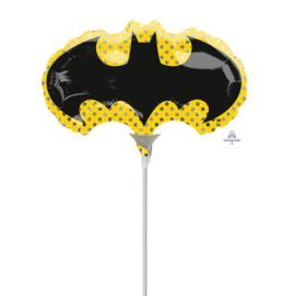 Batman folie ballon op stok 20cm