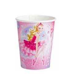 Barbie bekers 8 stuks 266ml