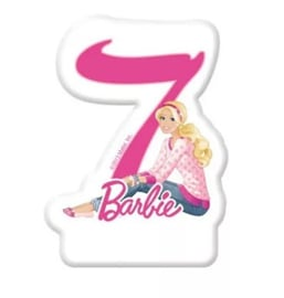 Barbie taartkaars cijfer zeven